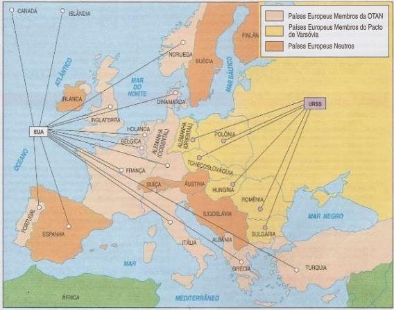 O controle dos países na Guerra Fria