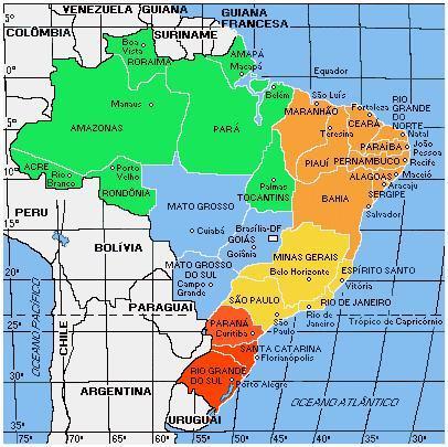 Mapas dos estados brasileiros