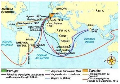 Rotas comerciais das Grandes Navegações