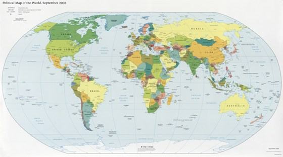 Mapa Mundi - Mapa físico do mundo