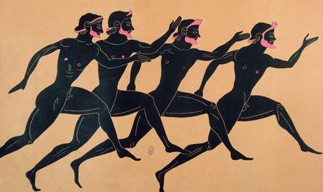 Corredores dos jogos na antiga Grécia.