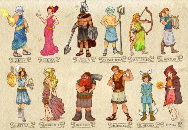 Deuses e deusas gregos