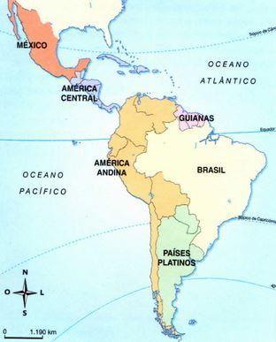 Mapa da América Latina