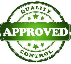 Controle de qualidade aprovada