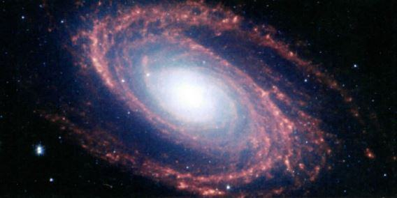 Imagem de uma galáxia espiral