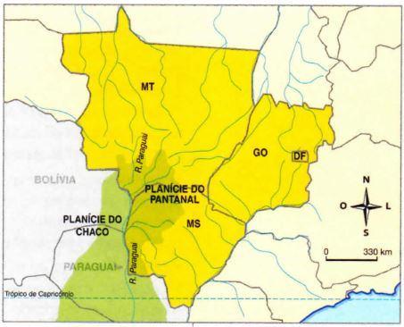 Localização do Pantanal