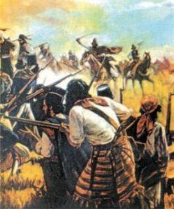 Quadro ilustrando a Revolução Farroupilha