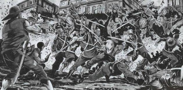 Ilustração dos conflitos na Cabanagem