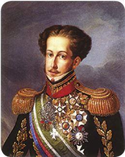 Retrato de Dom Pedro em sua regência no Brasil.
