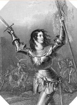 Joana d'Arc lutando na Guerra dos Cem Anos.
