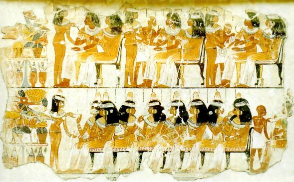 Pintura egípcia.