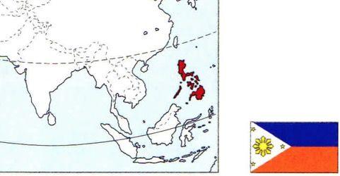 Mapa das Filipinas.