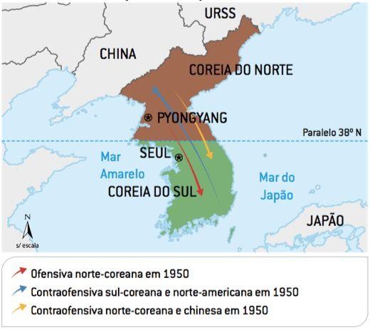 Fases da Guerra da Coreia.