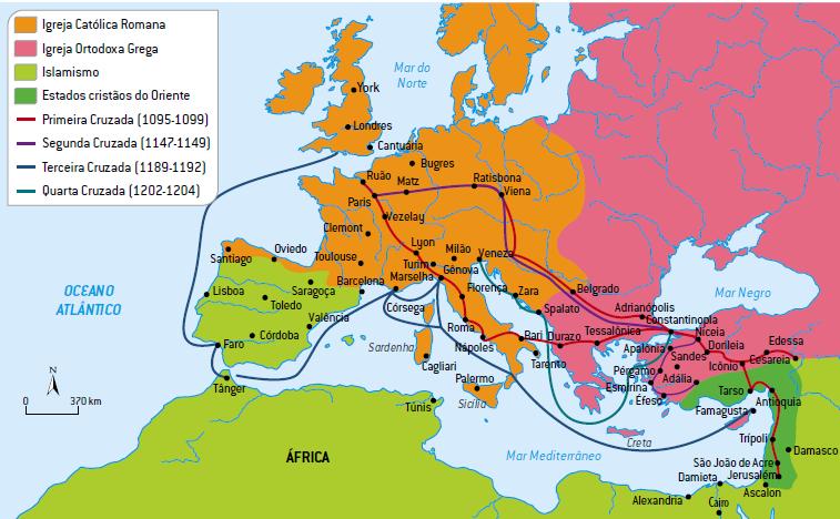 Mapa das Cruzadas.