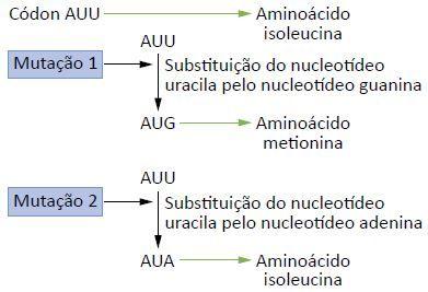 exemplos de mutações gênicas