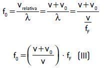 Equação do efeito Doppler.