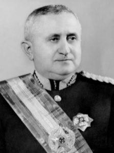 Retrato de Dutra com a faixa presidencial.