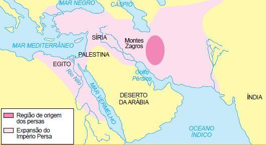 Mapa do Império Persa.