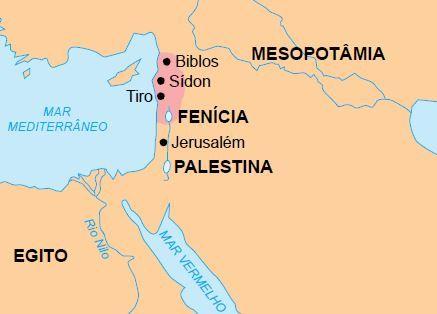 Mapa da Fenícia.