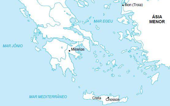 Mapa da Grécia antiga.