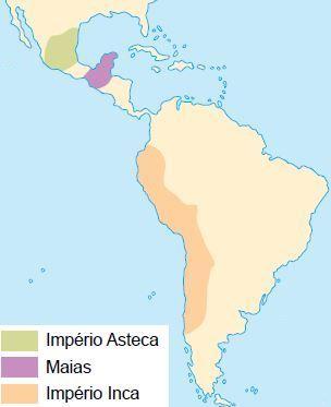 Mapa da América pré-colombiana.
