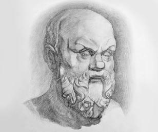 Retrato de Sócates.