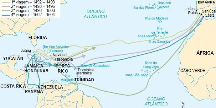 Grandes navegações espanholas.