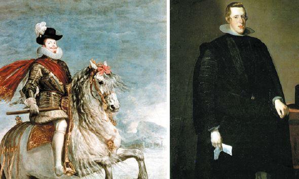 Retrato dos reis da UInião Ibérica.