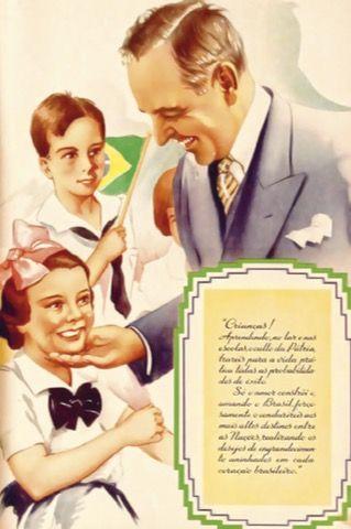 Cartaz propaganda da Era Vargas.