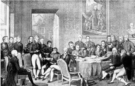 Reunião do Congresso de Viena.