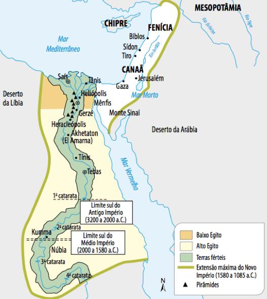 Mapa da civilização egípcia