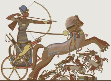 Afresco da civilização egípcia.