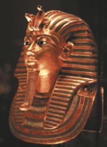 Máscara de um faraó.