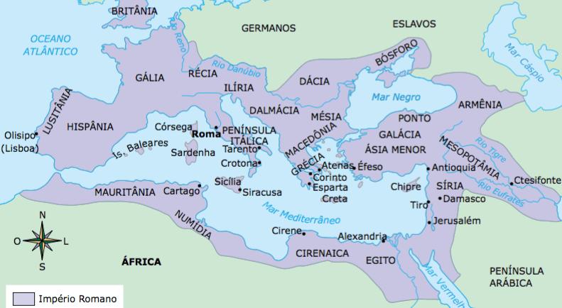 Mapa da Roma Antiga