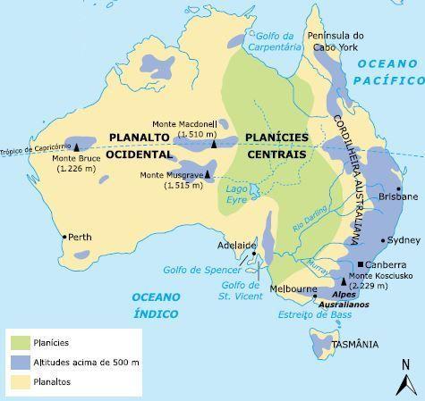 Mapa da Austrália
