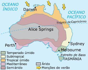 Mapa climático da Austrália