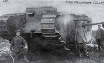 Tanque da Primeira Guerra Mundial.