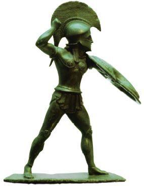 Estátua de uma guerreiro espartano.