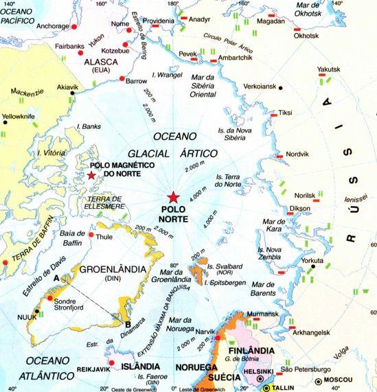Mapa do Ártico