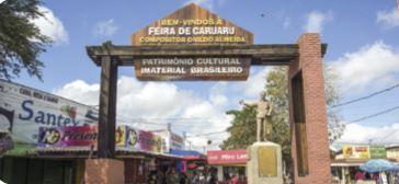 Imagem do portal de entrada da Feira de Caruaru.