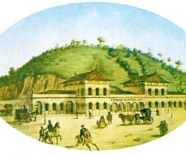 Quadro que retrata o Rio de Janeiro antigamente.