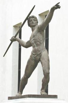 Estátua de um atleta olímpico