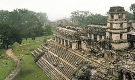 Ruínas da civilização maia.