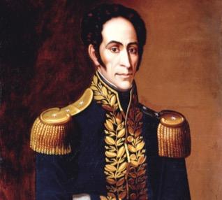 Retrato de Simon Bolívar.
