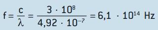 Resolução de exercício sobre a constante de Planck.