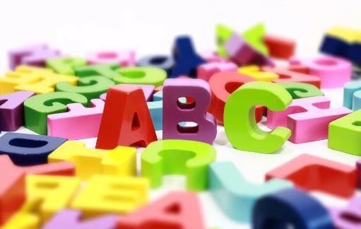 Letras do alfabeto.