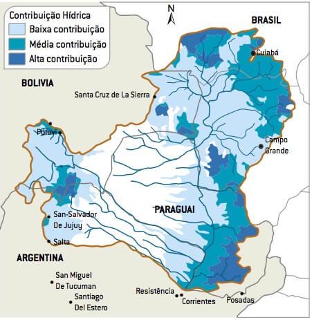 Mapa do Pantanal.