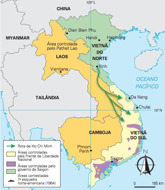 Mapa do Vietnã.