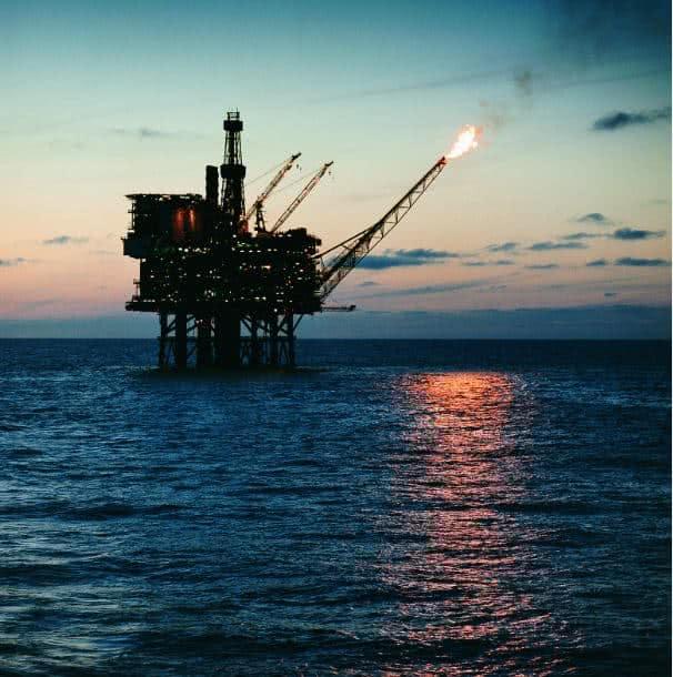 Plataforma de petróleo marítima.