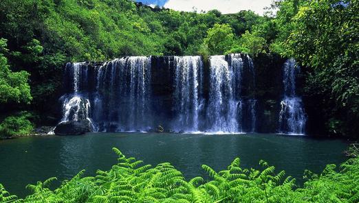 Foto de uma Cachoeira